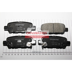 комплект колодок для дисковых тормозов (DYNAMATRIX-KOREA) DBP1693
