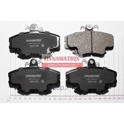 комплект колодок для дисковых тормозов (DYNAMATRIX-KOREA) DBP1781