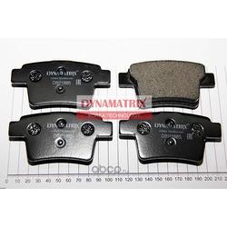 комплект колодок для дисковых тормозов (DYNAMATRIX-KOREA) DBP1885