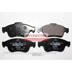 комплект колодок для дисковых тормозов (DYNAMATRIX-KOREA) DBP4180