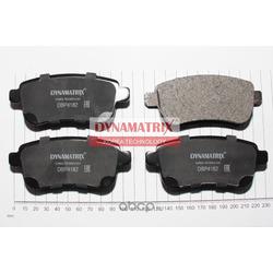 комплект колодок для дисковых тормозов (DYNAMATRIX-KOREA) DBP4182