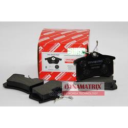 комплект колодок для дисковых тормозов (DYNAMATRIX-KOREA) DBP4260