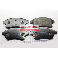 комплект колодок для дисковых тормозов (DYNAMATRIX-KOREA) DBP4262