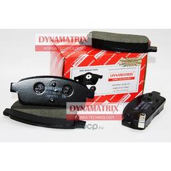 комплект колодок для дисковых тормозов (DYNAMATRIX-KOREA) DBP4263