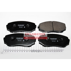 комплект колодок для дисковых тормозов (DYNAMATRIX-KOREA) DBP4365