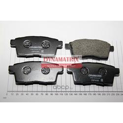 комплект колодок для дисковых тормозов (DYNAMATRIX-KOREA) DBP4366