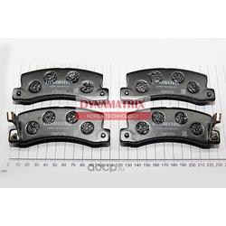 комплект колодок для дисковых тормозов (DYNAMATRIX-KOREA) DBP478