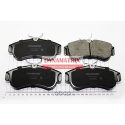 комплект колодок для дисковых тормозов (DYNAMATRIX-KOREA) DBP604