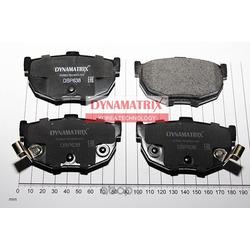 комплект колодок для дисковых тормозов (DYNAMATRIX-KOREA) DBP638
