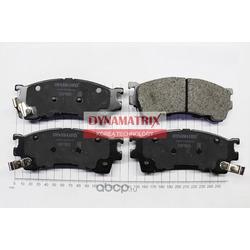 комплект колодок для дисковых тормозов (DYNAMATRIX-KOREA) DBP950