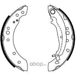 комплект колодок для барабанных тормозов (DYNAMATRIX-KOREA) DBS4051