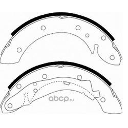 комплект колодок для барабанных тормозов (DYNAMATRIX-KOREA) DBS567