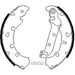 комплект колодок для барабанных тормозов (DYNAMATRIX-KOREA) DBS635