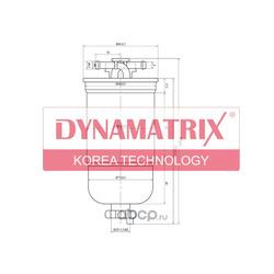 фильтр топливный (DYNAMATRIX-KOREA) DFFL147D