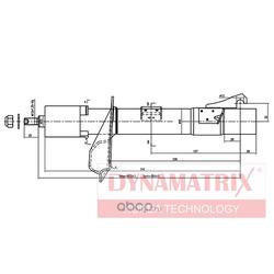 амортизатор подвески газонаполненный (DYNAMATRIX-KOREA) DSA333709