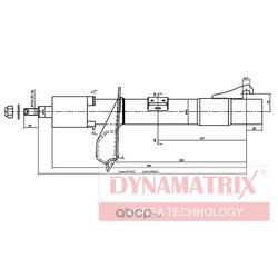 амортизатор подвески газонаполненный (DYNAMATRIX-KOREA) DSA333710