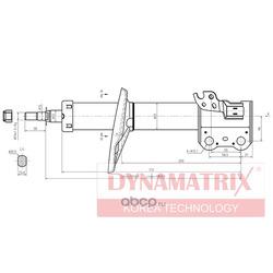 амортизатор подвески газонаполненный (DYNAMATRIX-KOREA) DSA334203