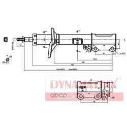 амортизатор подвески газонаполненный (DYNAMATRIX-KOREA) DSA334330