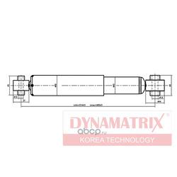 амортизатор подвески газонаполненный (DYNAMATRIX-KOREA) DSA343396