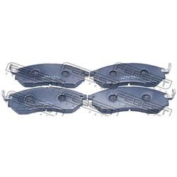 Колодки тормозные дисковые, комплект (Febest) 0201Z51F