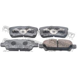 Колодки тормозные задние (Febest) 0401CSR