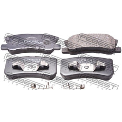 Колодки тормозные задние (Febest) 0401KH8WR