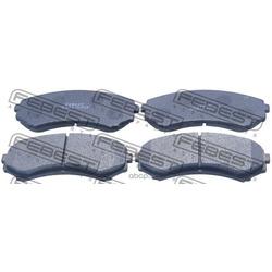 Колодки тормозные передние (Febest) 0401V75F