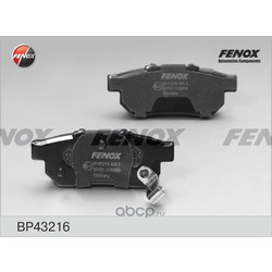 Комплект тормозных колодок, дисковый тормоз (FENOX) BP43216