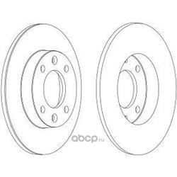 Тормозной диск (Ferodo) DDF1178C1