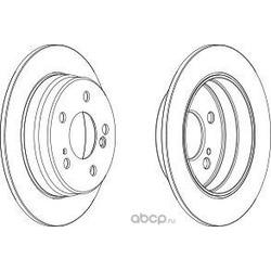 Тормозной диск (Ferodo) DDF1221