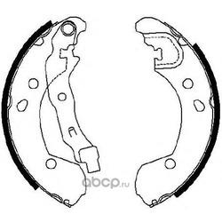 Комплект тормозных колодок (Ferodo) FSB649