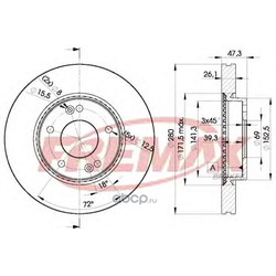 Тормозной диск (FREMAX) BD5171