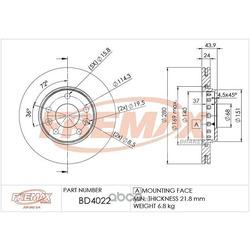 Тормозной диск (FREMAX) BD4022