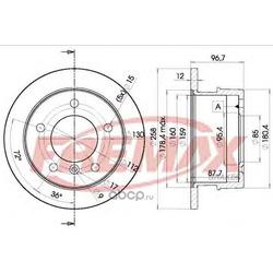 Тормозной диск (FREMAX) BD0184