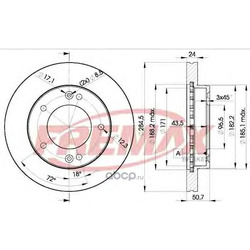 Тормозные диски (Hyundai-KIA) 0K01133251D