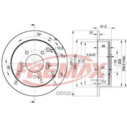 Тормозной диск (FREMAX) BD2907