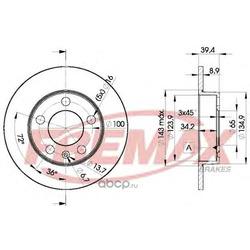 Тормозной диск (FREMAX) BD5601