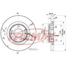 Тормозной диск (FREMAX) BD5924