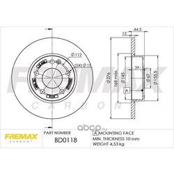 Тормозной диск (FREMAX) BD0118