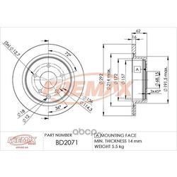 Тормозной диск (FREMAX) BD2071