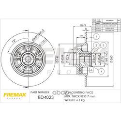 Тормозной диск (FREMAX) BD4023