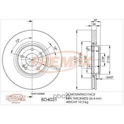 Тормозной диск (FREMAX) BD4051