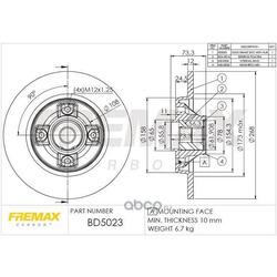 Тормозной диск (FREMAX) BD5023