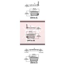 Дисковые тормозные колодки (Friction Master) MKD536