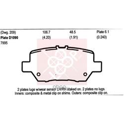 Дисковые тормозные колодки (Friction Master) MKD1090