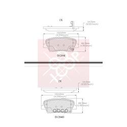 Дисковые тормозные колодки (Friction Master) ELT1284