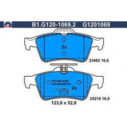 Комплект тормозных колодок (GALFER) B1G12010692