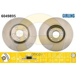 Тормозной диск (Girling) 6049895