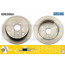 Тормозной диск (Girling) 6063064