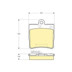 Комплект тормозных колодок, дисковый тормоз (Girling) 6115452